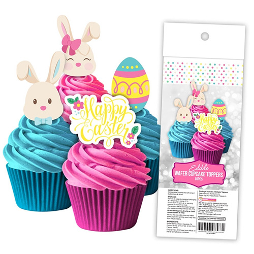 Easter Edible Wafer Cupcake Toppers