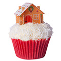 Edible Wafer Christmas 3D Cottage 6pcs