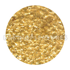 Edible Glitter Flakes Metallic Gold