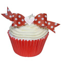 Edible Red Polka Dot Bows 10pcs