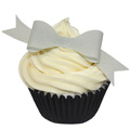 Edible Silver Bows 10pcs