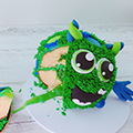 Over The Top Edible Slime Monster Green 300g