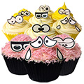 Edible Wafer Cartoon Eyes 36pcs