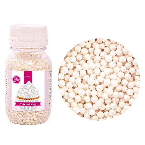 RC Edible 3.5mm White Pearls 115g