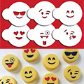 Emoji Cookie Stencil Set