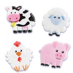 Farm Animal Cupcake Rings