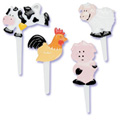 Farm Animals Cupcake Picks 12pcs