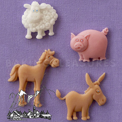 Alphabet Moulds Farm Animals Silicone Mould
