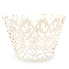 Filigree Pearl Creamy White Lace Cupcake Wrappers