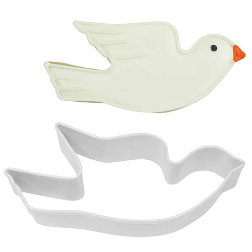 Flying Dove White Cookie Cutter