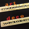 FMM Art Deco Lower Case Letters Tappit