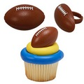 Football Cupcake Rings 12pcs