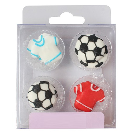 Football Soccer Edible Cupcake Toppers 12pcs