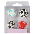 Soccer Football Edible Cupcake Toppers 12pcs