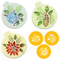 Forever Green Christmas Ornament Stencils 3pcs