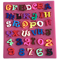 Funky Alphabet Silicone Mould