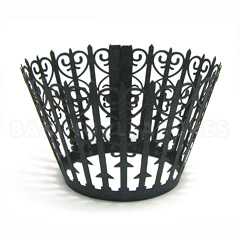Gate Pearl Black Lace Cupcake Wrappers 12pcs