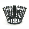 Gate Pearl Gunmetal Black Lace Cupcake Wrappers 12pcs
