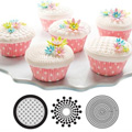 Geometric Cupcake & Cookie Texture Tops 3pcs