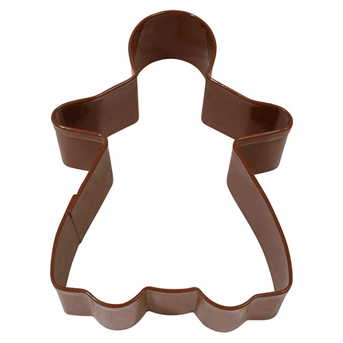 Christmas Gingerbread Girl Brown Cookie Cutter