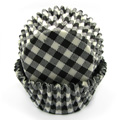 Gingham Black Baking Cups 32pcs