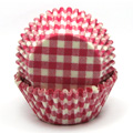 Gingham Pink Baking Cups 32pcs