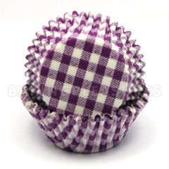 Gingham Purple Baking Cups