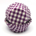 Gingham Purple Baking Cups 32pcs