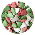 Glimmer Red Green White Christmas Tree Sprinkles 100g