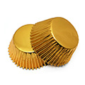 Gold Foil Mini Baking Cups 240pcs