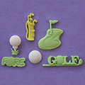 Alphabet Moulds Golf Silicone Mould