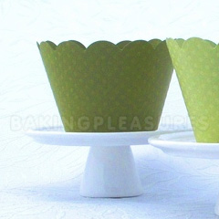 Green Dark Cupcake Wrapper