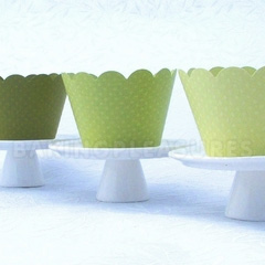 Green Dark Cupcake Wrapper 12pcs