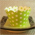 Green Polka Dot Cupcake Wrappers 12pcs