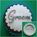 Alphabet Moulds Groom Cupcake Silicone Mould