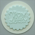 Alphabet Moulds Groovy Happy Birthday Cupcake Topper Silicone Mould
