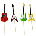 Guitar Paper Cupcake Picks 24pcs