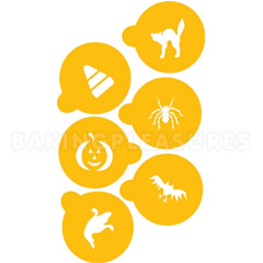 Halloween Cookie Stencils 6pcs