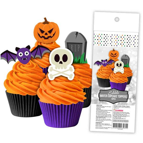 Halloween Edible Wafer Cupcake Toppers