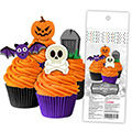 Halloween Edible Wafer Cupcake Toppers 16pcs