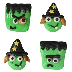 Halloween Monster & Witch Edible Cupcake Toppers
