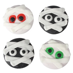 Halloween Mummy Edible Cupcake Toppers