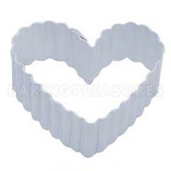Heart Fluted White Cookie Cutter