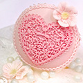 Katy Sue Heart Lace Cupcake Mould