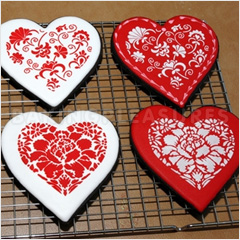 Valentines Cookies Hearts Cookie Cutter &...