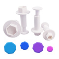 Hexagon Plunger Cutters 4pcs