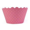 Honeysuckle Pink Cupcake Wrappers 12pcs
