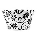 Ivy Black/White Cupcake Wrappers 12pcs