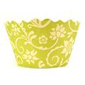 Ivy Green/Yellow Cupcake Wrappers 12pcs