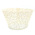 Ivy Pearl Ivory Lace Cupcake Wrappers 12pcs